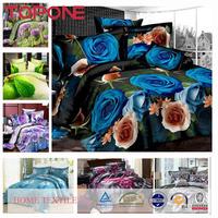 China made colorful elegant flower decorations 3d printed bedding set