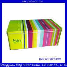 Factory Directly Cookie Packaging Box, Tin Cookie Box, Fancy Candy Box with Handle