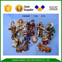 4'' polyresin christmas nativity tiny christmas figurines