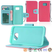 China Flip Cover Cell Phone Leather Case for samsung s6