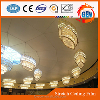 2015 new ceiling decorations plastic building materials colorful pvc ceiling soundproof decorative film
