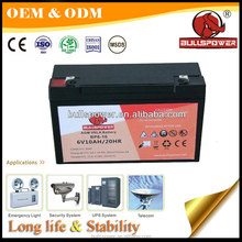 alarm systems Standby power top power toy vehicle battery 6v10ah