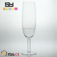 Big belly leadfree customized size clear transparent manufacturing clear crystal handblown champagne glass