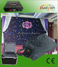 Colorful wedding Backdrop 6 leds per square meter RGB LED Star cloth for DJ Booth Deck Stand Curtain Multi LED