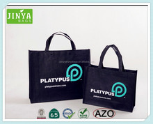popular black non woven tote bags used for promote and advertising