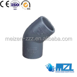 ASTM sch80 pvc pipe fitting 45 degree female elbow