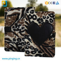 Tiger stripes blanket flip cover leather tablet case for ipad mini 2 3 4 stand cover