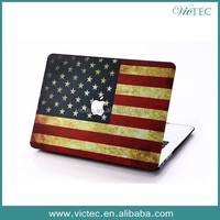 USA flag custom case shell for macbook pro air,for Apple macbook pro case