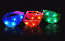 Popurlar Product Festival Party and Event Supply Flashing Led Bracelet Wristband.