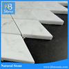 carrara white rhombus pattern marble stone adhesive