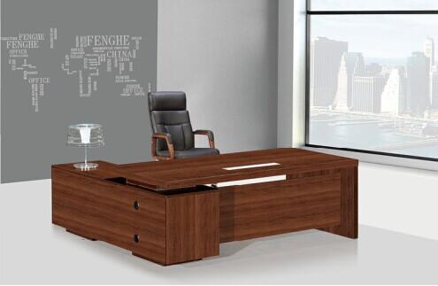 Moderno en forma de l oficina escritorio laminado de for Escritorios modernos para oficina