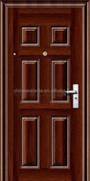 modern residential hidden hinges exterior steel security door with good quality with one year warranty