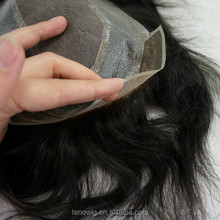 2015 new design human hair men's toupee with high quality