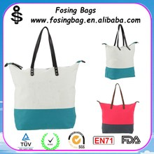 Spring and summer printed canvas handbag for travelling wholesale for girls