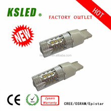 Hid replacement 9-30V 7443 led car lamp 7440 20w auto led turning light/brake light BA215D 1157 3-80W IP 67 CE ROHS 2 years