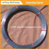 Oval Fence Wire 17/15=2.4mm x 3.0mm / Galvanized oval wire