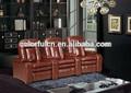 Casa silla reclinable de tv/eléctrico sillón reclinable de cuero sillas LS606