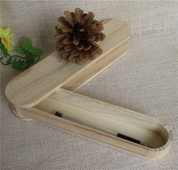 Unfinished custom natural wooden pen display box case