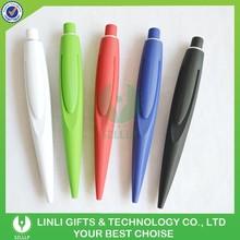 Europe Market Advertising Pen With Rubber, Plastic Ballpen, Customized Ball Pen