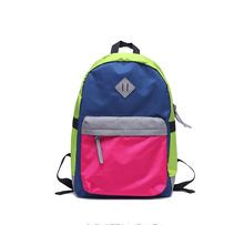 2015 colorful Nylon backpack for school traveling camping and sports