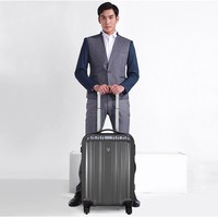 China factory direct sale 100% PC polycarbonate striped luggage