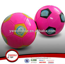 promotion soccer ball pink printting