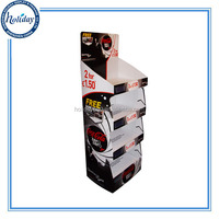 Customized Portable Square Pedestal Floor Display Stand,Top Sale Luxury Design Cardboard Material Retail Floor Display Stand