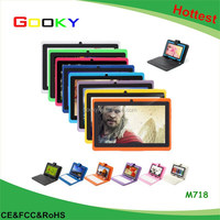 Leather Case Android 4.4 Tablets pc Quad Core WiFi Dual Cam Bluetooth 7 inch Tablet pc Android tablet