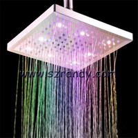 Hot and multicolor fast change No Battery Ceiling LED Rain Top Shower