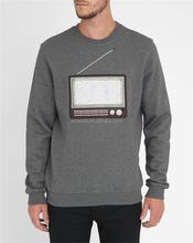 Custom Mens Plain Grey 100 Cotton Fleece Printed Sweatshirt Without Hood