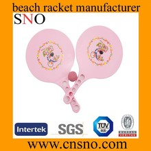 2015 Wholesale latest design plastic beach racket with ball