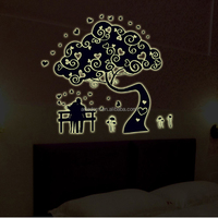 Living Room Ideas Baby Decals Removable Vinyl Tree Wall Stickers Fluorescent