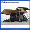 Outdoor canvas fabric family tent Car/truck roof top tent with side awning