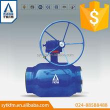 TKFM hot sale gear operation 6 inch full bore ball valve