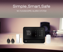 Security home production system & WiFi GSM GPRS alarm system & WiFi GSM alarm system support sensor low voltage alert
