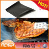 RENJIA fireproof charcoal bbq grill mat non stick silicone baking mat charcoal grill mat