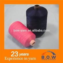 Materia prima para la tela 100% hb hilados de poliéster/cono de hilo abercr ombie fitch y amontonadas