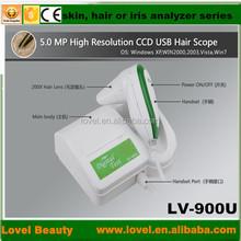 3d scanner digital microscope 5.0 MP High Resolution CCD USB iris skin analyzer and hair scope