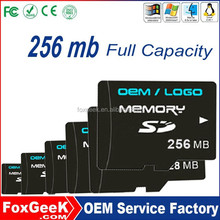 Cheap 256mb micro capacity SD card, Taiwan Original Quality SD Card with TF Slot Adapter from 1M,64,128,256 G GB Wholesale Price