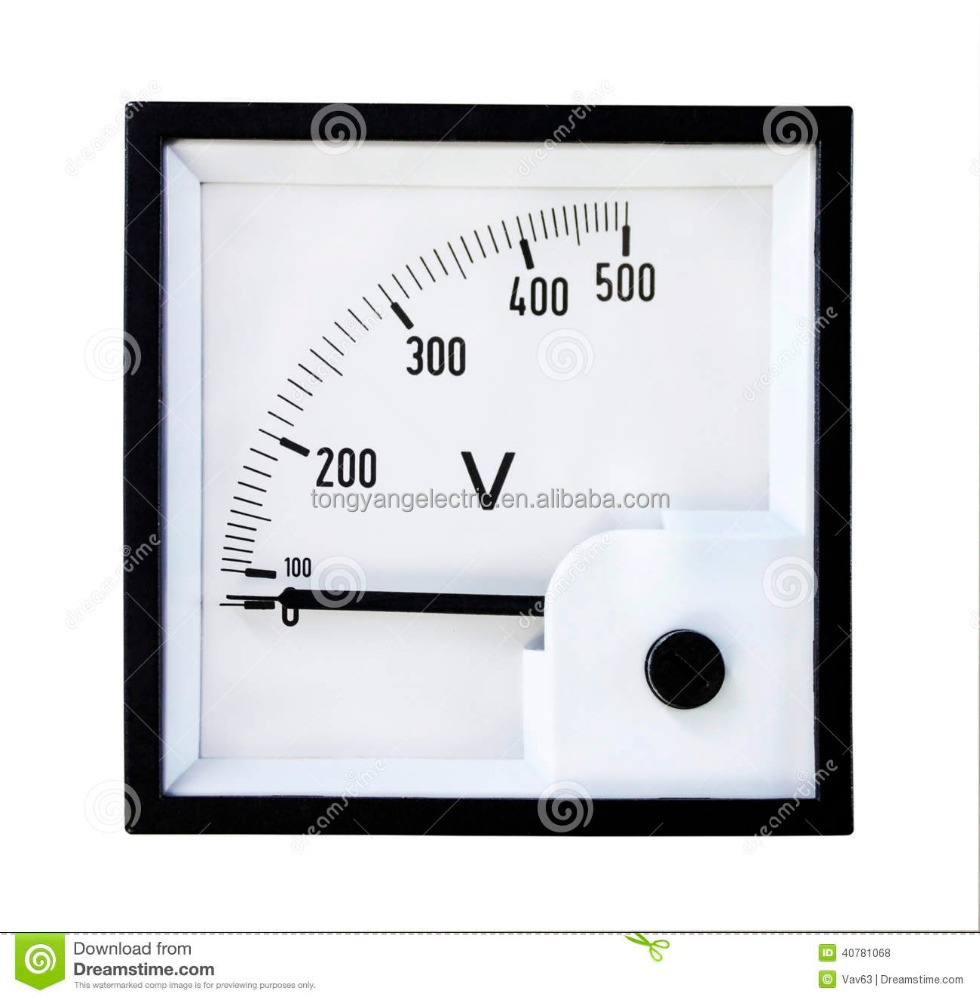 Analog Panel Meter : Analog panel meters ac dc voltmeter