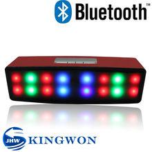Kingwon 2015 new arrived shinning led wireless portable mini bluetooth active pa speaker