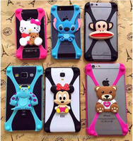 3D Cartoon character general silicone mobile phone case for all brand cellphone CO-SIL-404