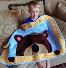 Wholesale handmade crochet baby blanket for sale