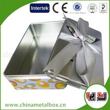 Rectangular Metal Tin Box With Printing/Decorative Gift Metal Tin Box