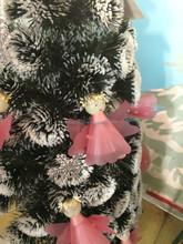Fashion aritificial PET christmas tree, kewpie decorated on the christmas tree