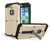 best price TPU+PC Armored tank kickstand phone case for iphone 6 4.7''