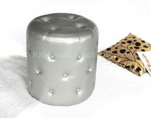 living room furniture modern round leather stool