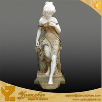 Outdoor life-size Stone Woman Figure Statues