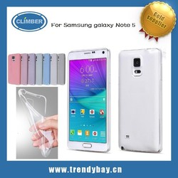 Ultra thin transparent soft TPU case for samsung galaxy note 5