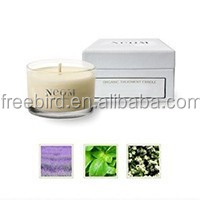 Branded scented craft candles with luxury box